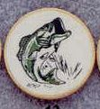 "Round Deal 1"" Insert Fishing - Medallions Stock Kromafusion"
