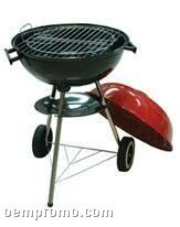 Round W/Accent Color Lid Barbecue Grill
