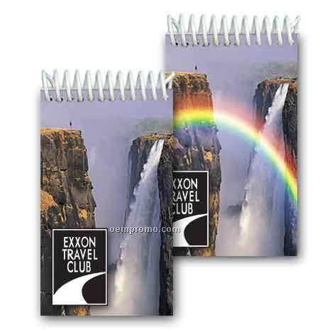 3d Lenticular Mini Notebook Stock/Waterfall (Custom)