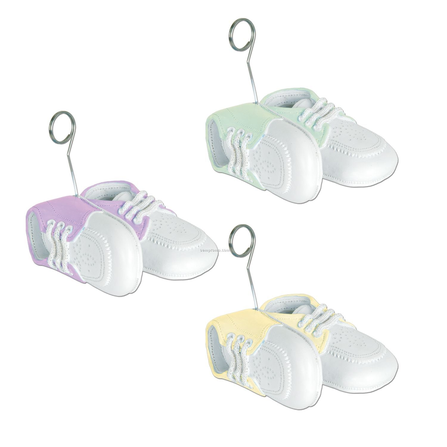 Baby Shoes Photo/ Balloon Holder (Pastels)