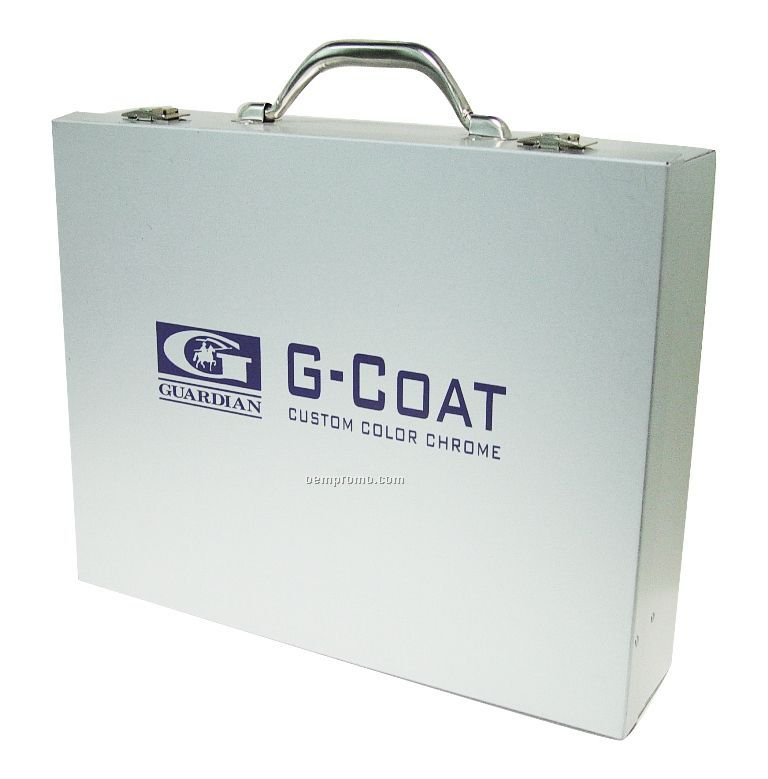 Rivet Hinged Smooth Aluminum Attache Case
