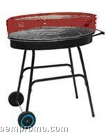 Round W/Red Accent Top Barbecue Grill