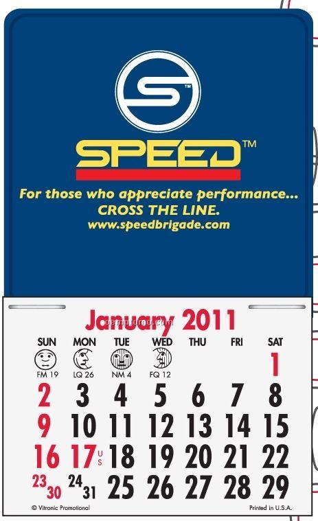 Super Size Contemporary Press-n-stick Calendar (Thru 08/01/2011)