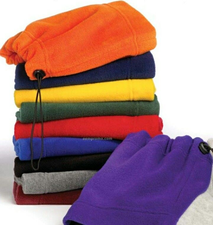 Wolfmark Orange Fleece Neck Gaiter