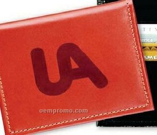 I.d. Card Case W/ Credit Card Slots - Top Grain Cowhide Leather