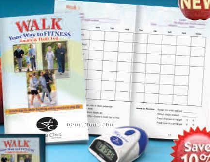 Spanish Top View Pedometer W/ Walker's Guide (W/ Personalization)
