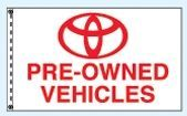 Stock Cluster 3 Flag Set W/ Staff & Hardware (Toyota Pre-owned)