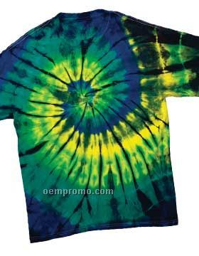Adult Multi Color Center Swirl T-shirts (S-2x)