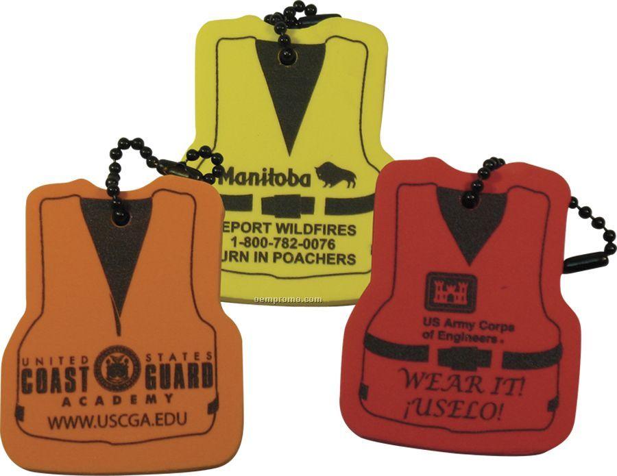 Foam Floating Key Tag - Life Vest