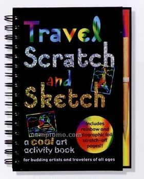 Scratch And Sketch Activity Book - Travel