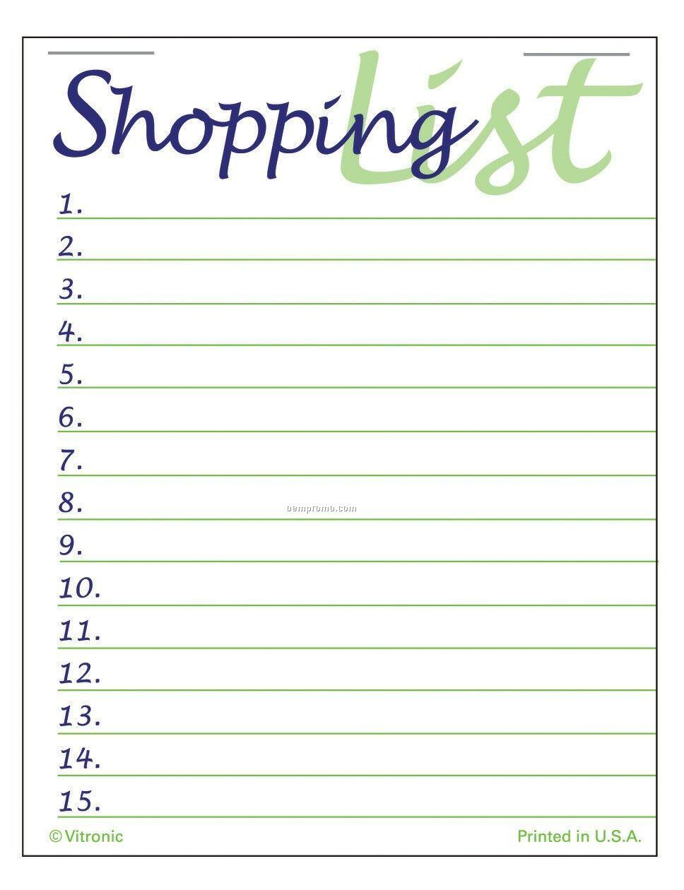 Super Size Shopping List Press-n-stick Calendar (After 8/1/2011)
