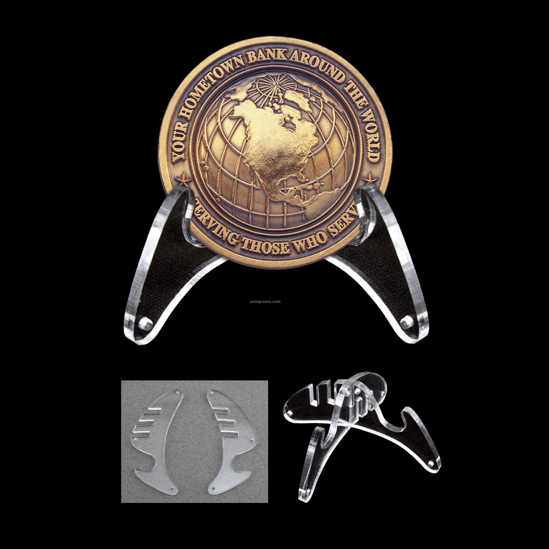 Clear Acrylic Coin Easel