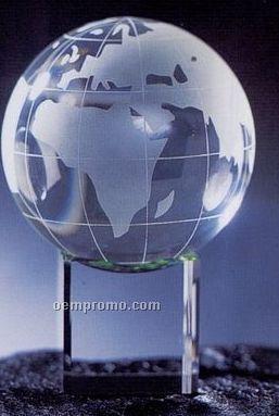Global W/Meridian & Clear Base (1-3/8