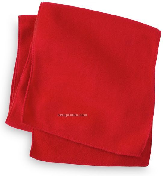 Wolfmark Red Fleece Neck Scarf