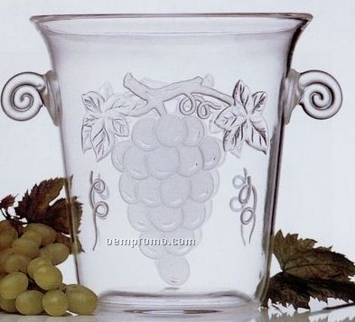 3 1 2 Qt Champagne Amp Wine Bucket With Embossed Grapes