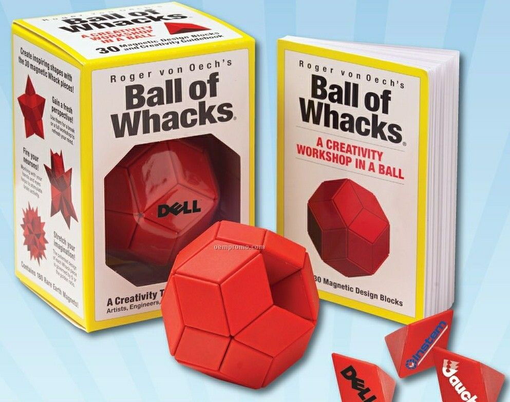 Ball Of Whacks Creativity Puzzle Toy With 30 Magnetic Pieces
