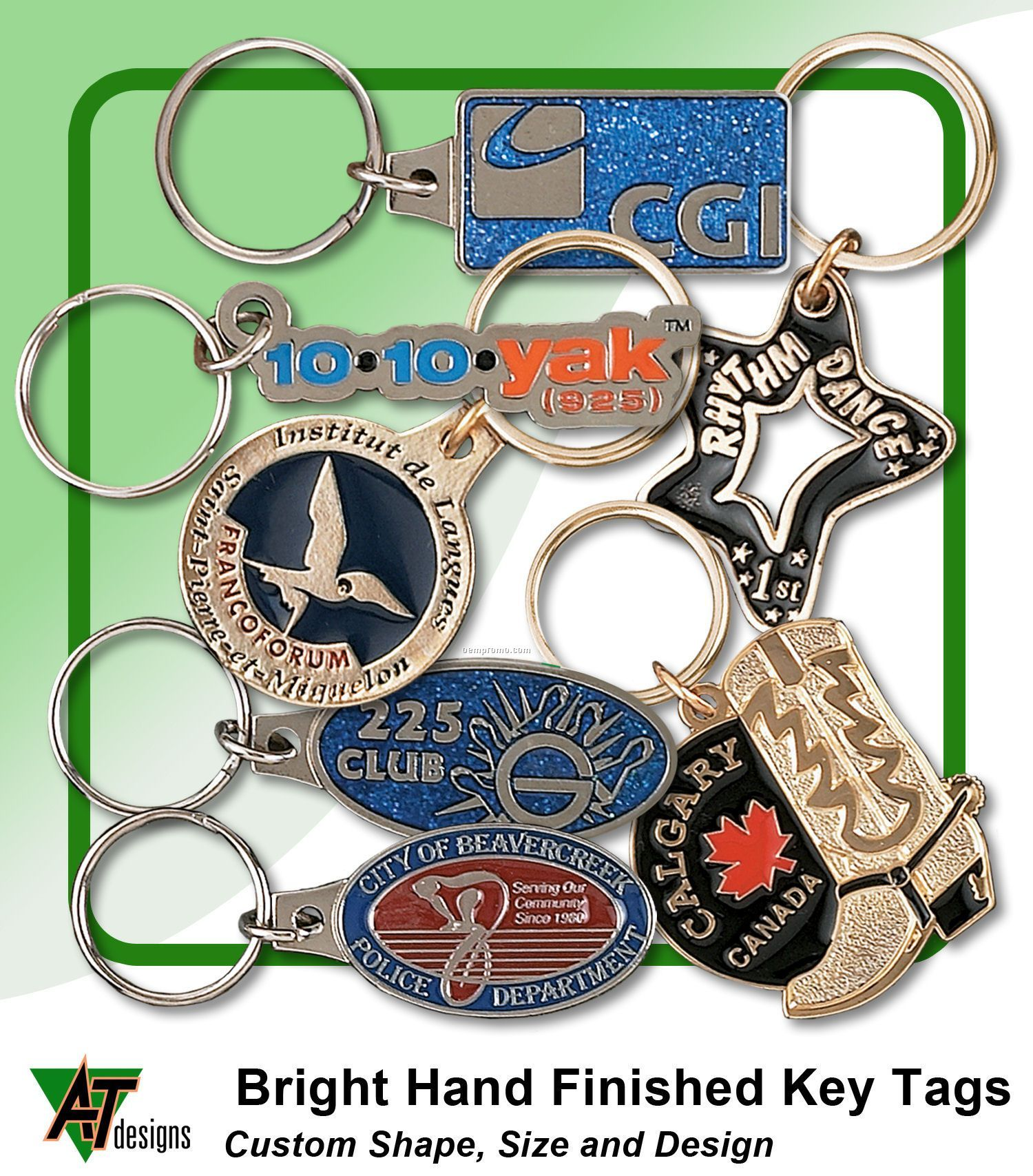 Bright Hand Finished Key Tags