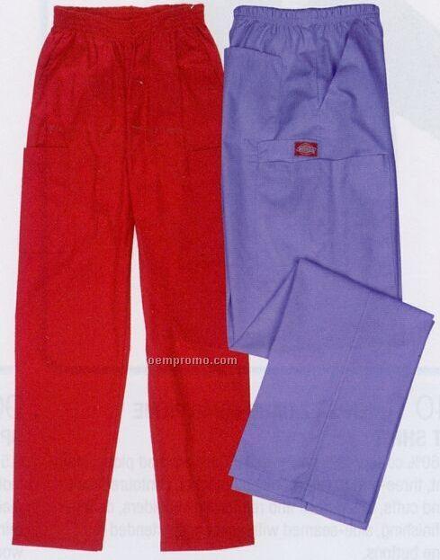 Elastic Waist Cargo Pants (Embroidery)