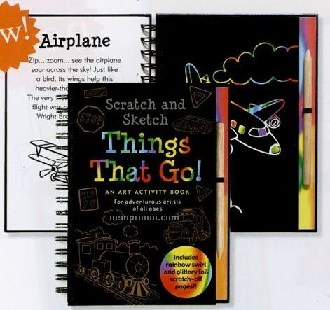 Scratch And Sketch Activity Book - Things That Go