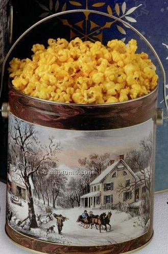 1 Gallon Cheese Designer Popcorn Tin