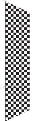 2 1/2'x8' Complete Zephyr Kit - White/Black Checker