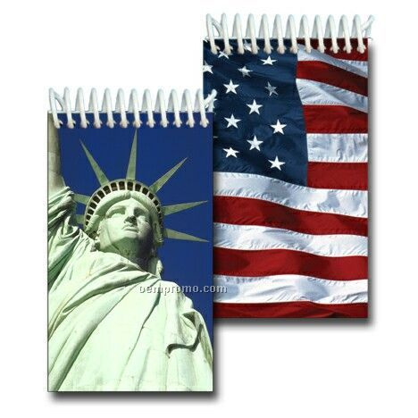 3d Lenticular Mini Notebook Stock/Statue Of Liberty Us Flag (Blanks)