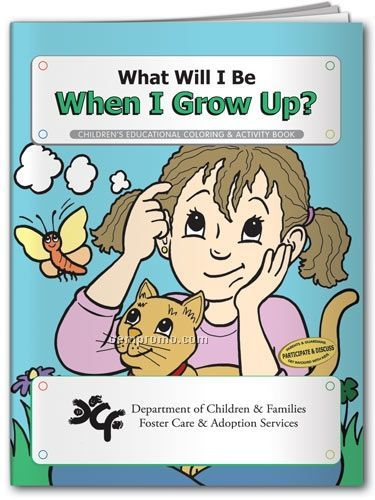 Action Pack Coloring Book W/Crayons & Sleeve- What Will I Be When I Grow Up