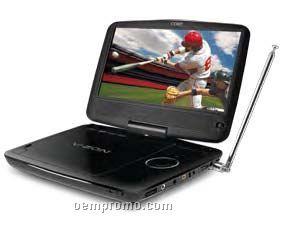 "Coby 9"" Tft Slim Portable DVD Player W Atsc Digital Tv, Swivel Screen"