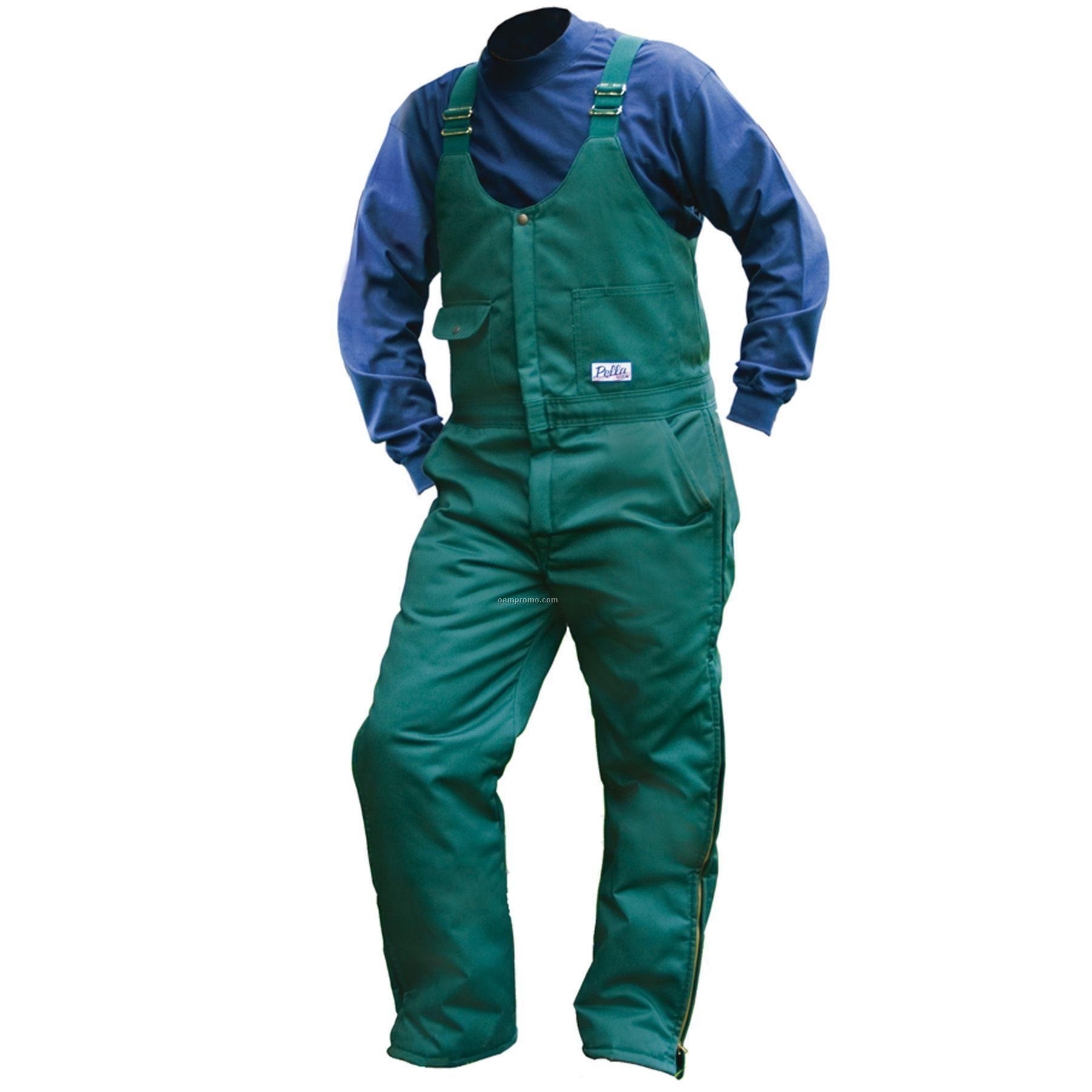 "Spruce Green Twill Insulated Bib Overall - 28"" To 42"" Waist"