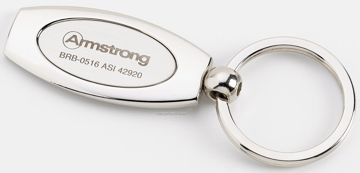 2-tone Oval Key Ring