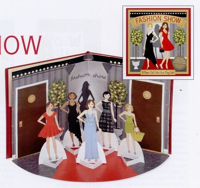 A Paper Doll Fold-out Play Set - Fashion Show