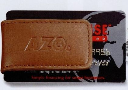Concord Leather Magnetic Money Clip (English Tan)