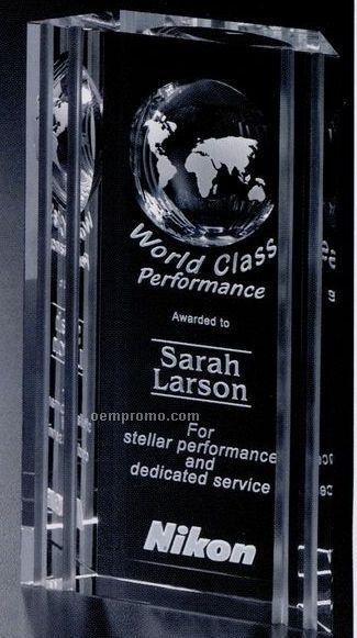 "Global Gallery Crystal Capricorn Global Award (8"")"