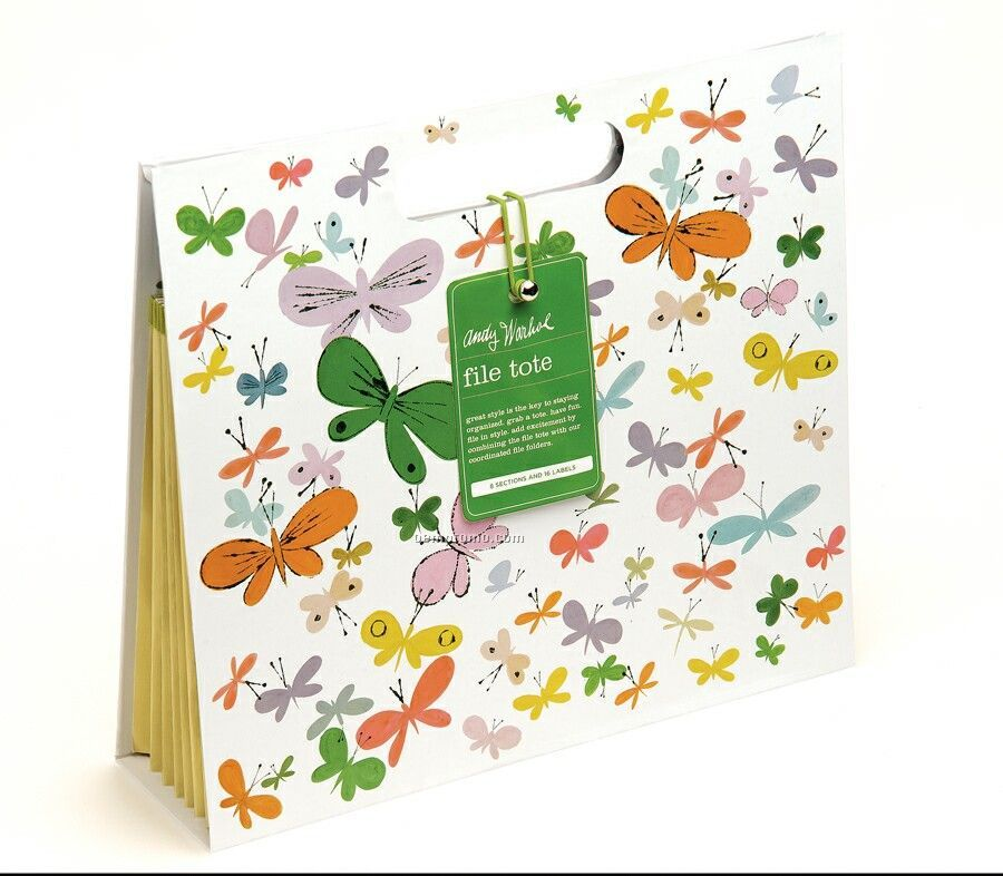 Happy Butterfly Day File Tote