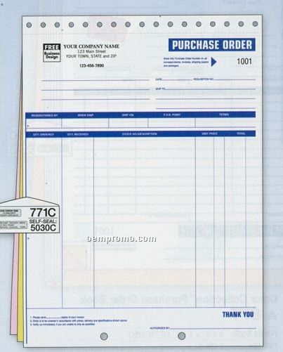 High-impact Small Purchase Order (3 Part)