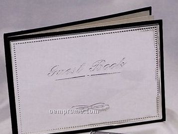 Silver Plated Guest Book