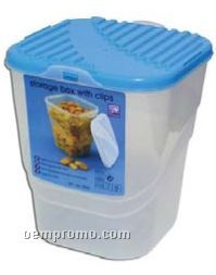 Square Food Storage Container W/ Snap Lid Closure