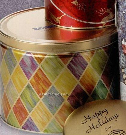 2 Gallon 3-way Designer Popcorn Sampler Tin