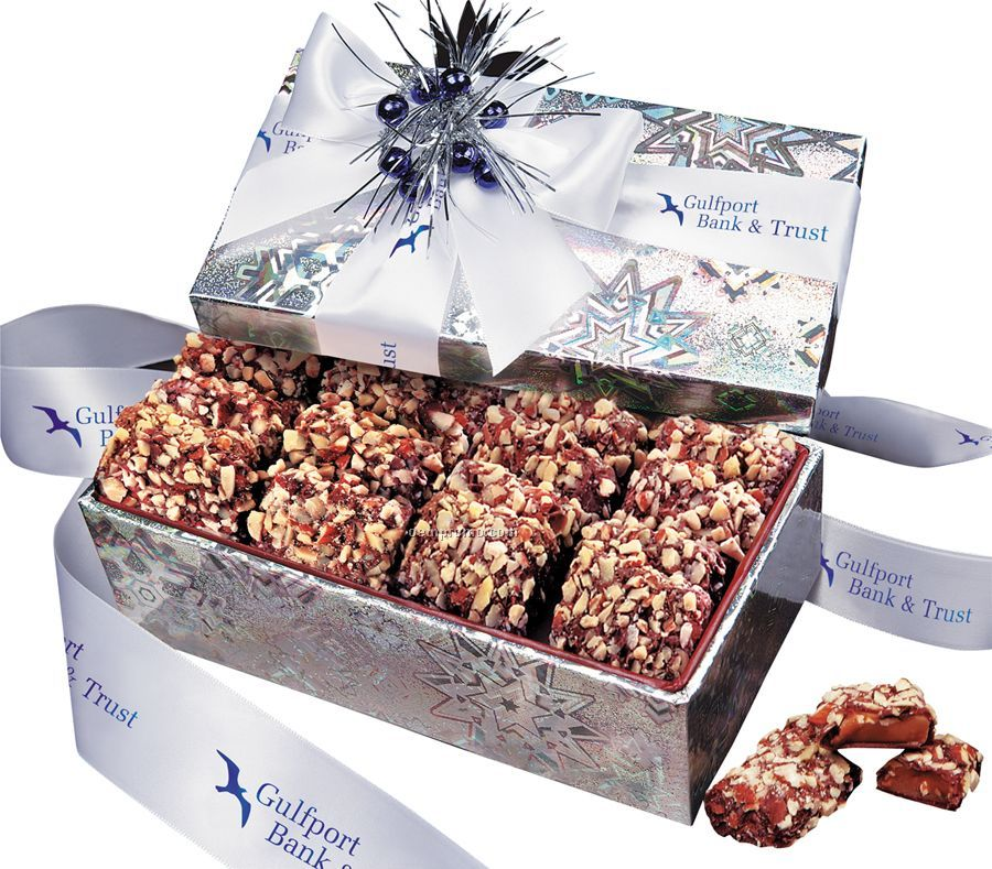 Holographic Snowflake Gift Box W/ Toffee