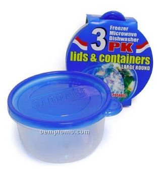 Round Disposable Food Container W/ Lid