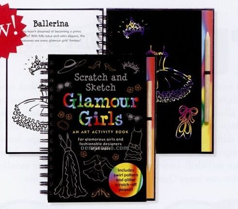 Scratch And Sketch Activity Books - Glamour Girls