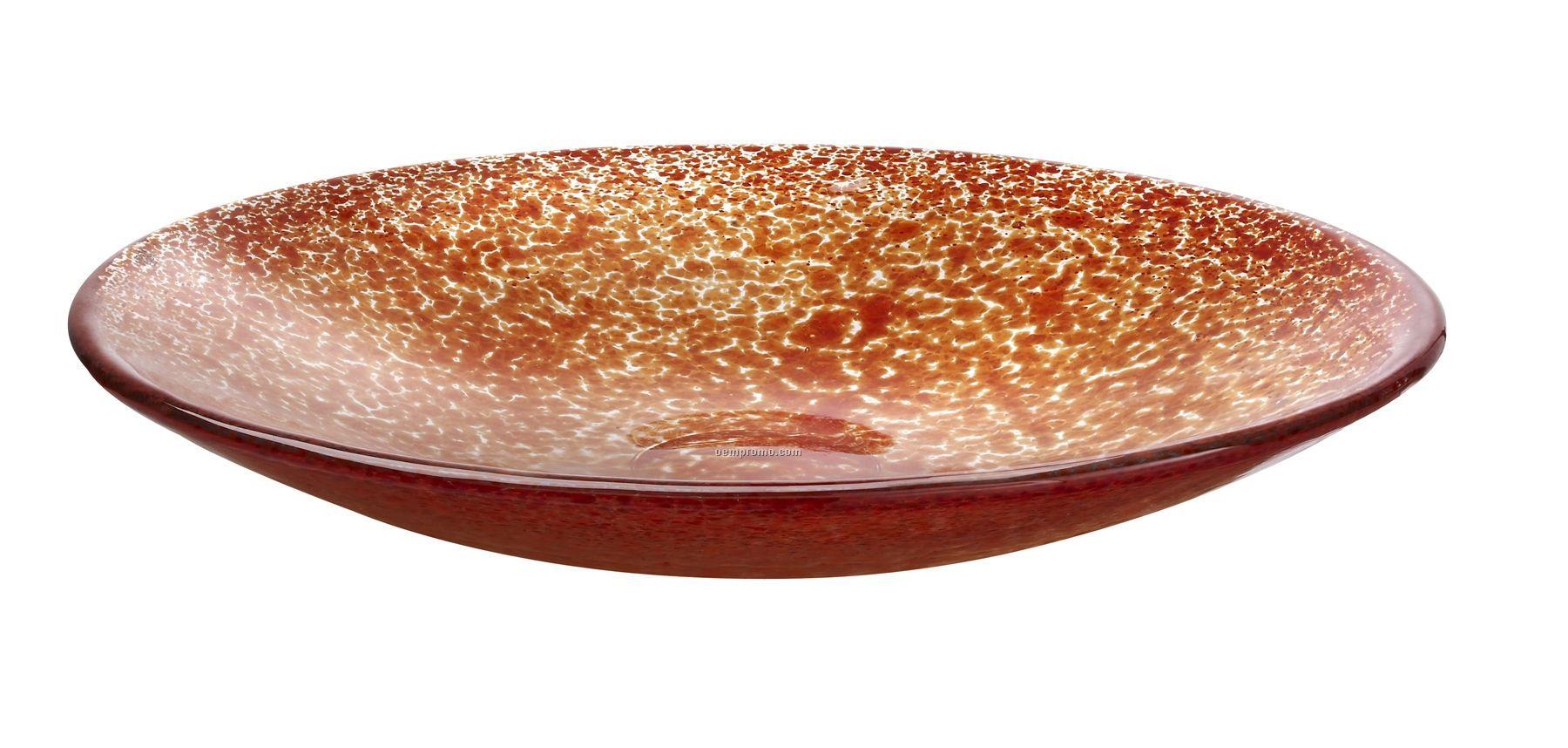 Tellus Glass Dish By Anna Ehrner (Red)