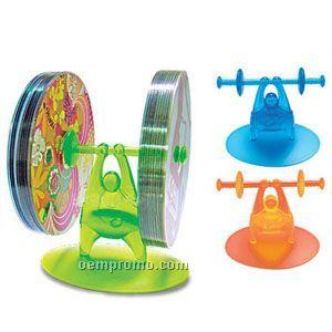 Weight Lifter Novelty CD Holder