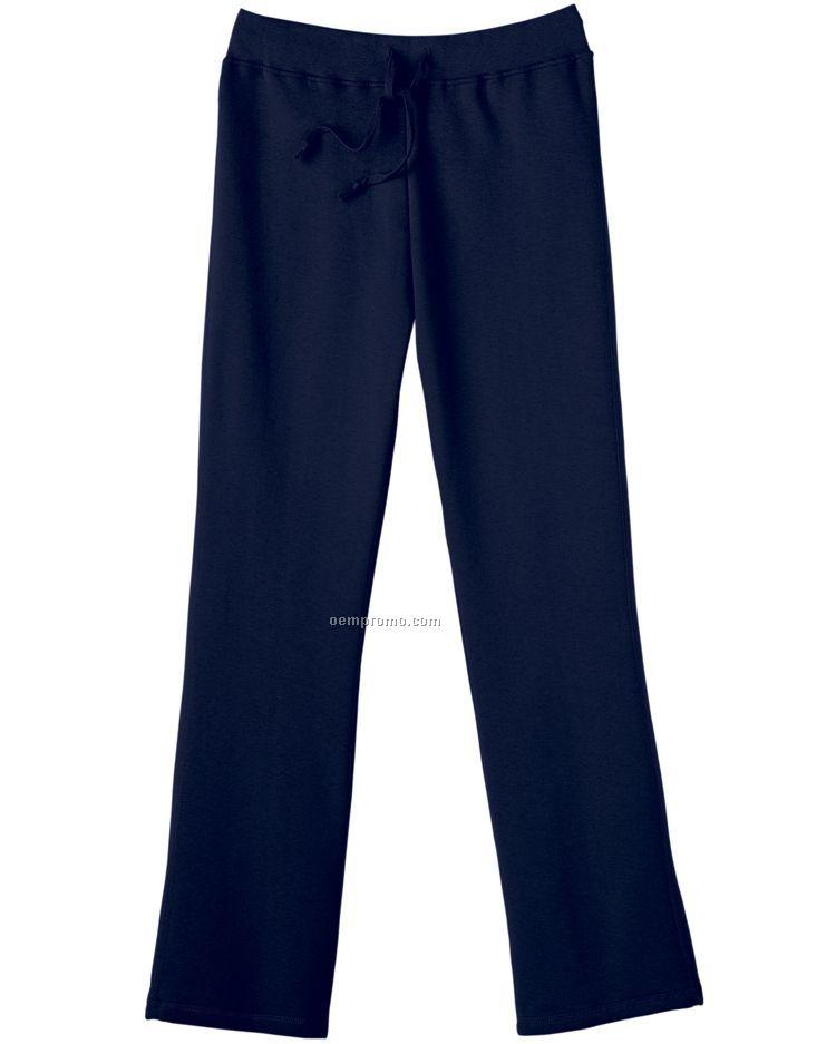 Hanes Ladies' 8 Oz. 80/20 Comfortblend Ecosmart Open-bottom Fleece Pants
