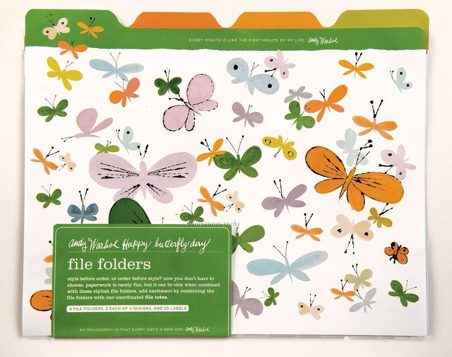 Happy Butterfly Day File Folders