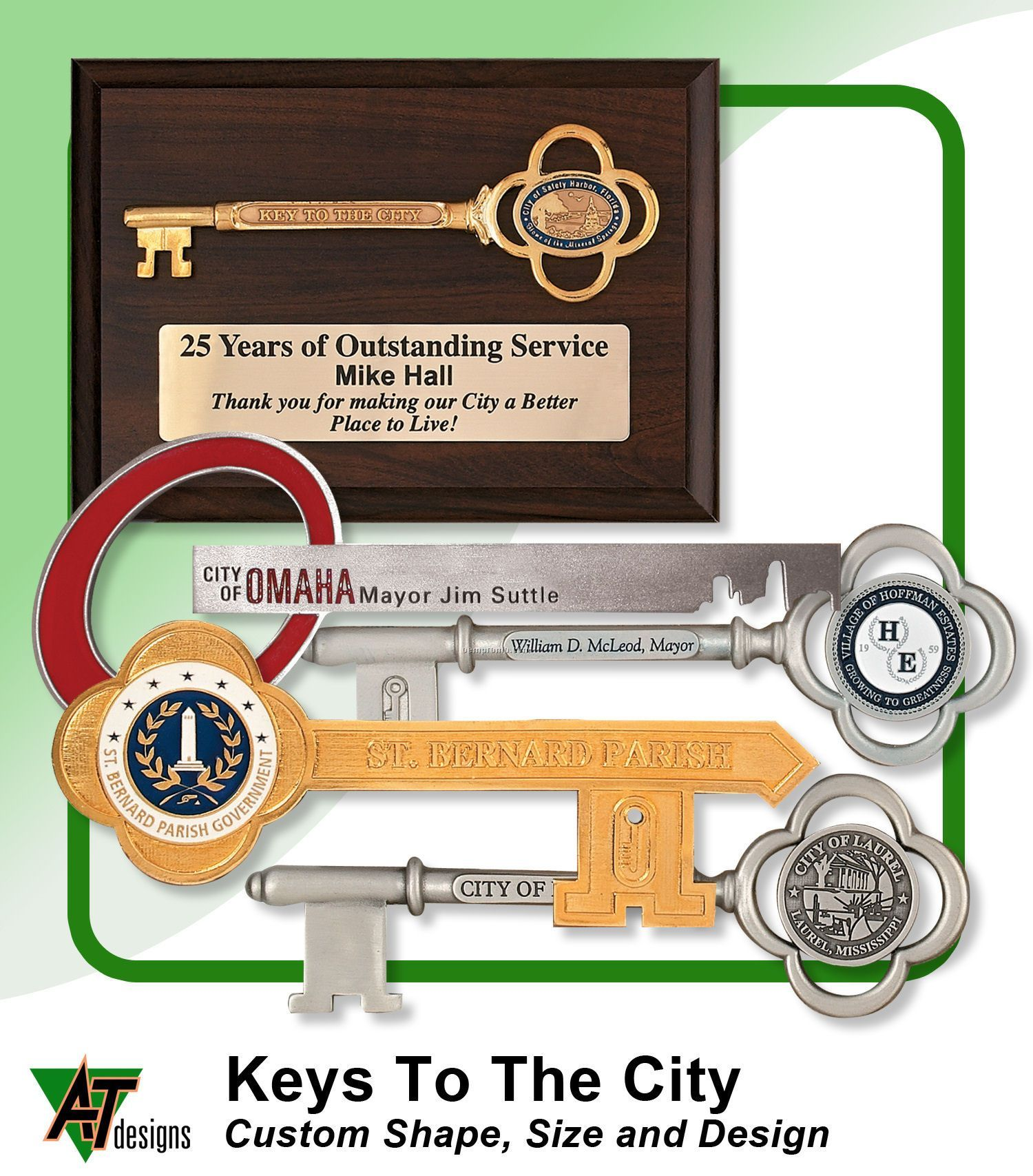Pewter Key To The City
