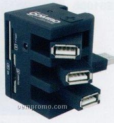 Revolving 4 Ports USB Hub