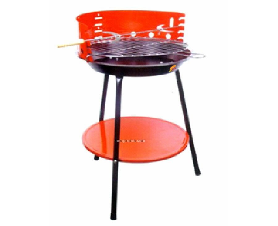 Round W/Red Accents Barbecue Grill