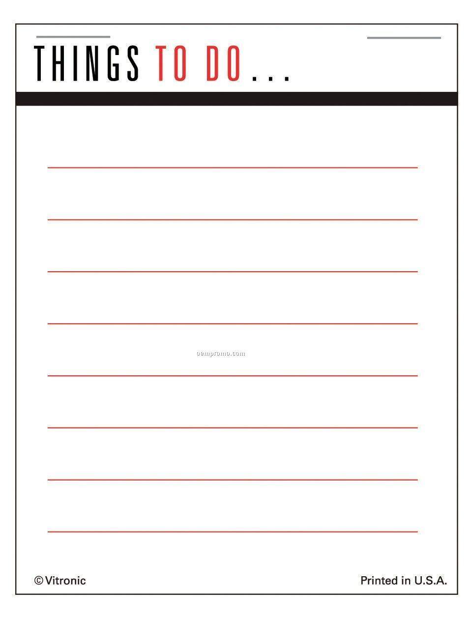 Super Size Things To Do List Press-n-stick Calendar Pads (Thru 8/1/11)