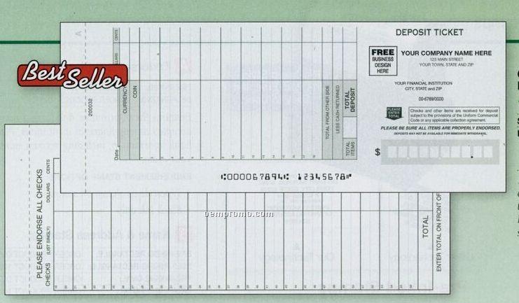 Customer Choice Deposit Ticket Book (1 Part)